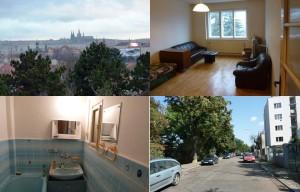 Pronájem-  Byt 2+1 +B + výhled na Pražský hrad Praha, ul Sdružení